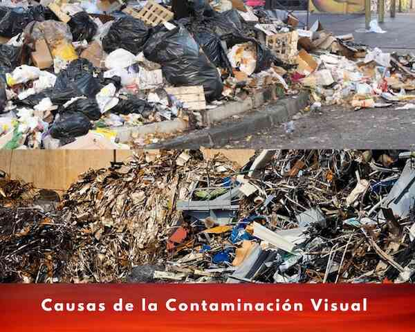 causas de contaminacion visual