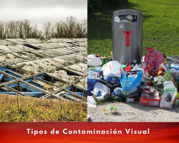 tipos contaminacion visual